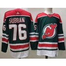 Men's New Jersey Devils #76 PK Subban Green 2021 Reverse Retro Authentic Jersey