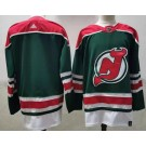 Men's New Jersey Devils Blank Green 2021 Reverse Retro Authentic Jersey