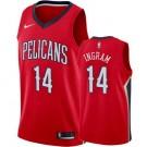 Men's New Orleans Pelicans #14 Brandon Ingram Red Icon Hot Press Jersey