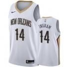 Men's New Orleans Pelicans #14 Brandon Ingram White Icon Hot Press Jersey