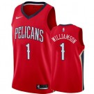Men's New Orleans Pelicans #1 Zion Williamson Red Icon Hot Press Jersey