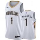 Men's New Orleans Pelicans #1 Zion Williamson White Icon Hot Press Jersey