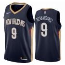 Men's New Orleans Pelicans #9 Willy Hernangomez Navy Icon Hot Press Jersey