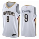 Men's New Orleans Pelicans #9 Willy Hernangomez White Icon Hot Press Jersey