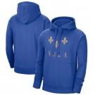 Men's New Orleans Pelicans Blue 2021 City Edition Essential Logo Fleece Pullover Hoodie