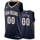 Men's New Orleans Pelicans Custom Navy Icon Hot Press Jersey