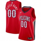 Men's New Orleans Pelicans Custom Red Icon Hot Press Jersey