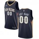 Men's New Orleans Pelicans Customized Navy Icon Swingman Nike Jersey