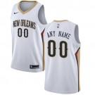 Men's New Orleans Pelicans Customized White Icon Swingman Nike Jersey
