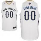 Men's New Orleans Pelicans Customized White Swingman Adidas Jersey