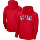 Men's New Orleans Pelicans Red Statement Edition Fleece Pullover Hoodie