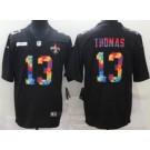 Men's New Orleans Saints #13 Michael Thomas Limited Black Crucial Catch Vapor Untouchable Jersey