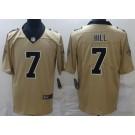 Men's New Orleans Saints #7 Taysom Hill Limited Gold Inverted Vapor Untouchable Jersey