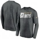 Men's New Orleans Saints Gray Sideline Impact Legend Performance Long Sleeves T Shirt 629