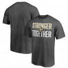 Men's New Orleans Saints Heather Charcoal Stronger Together Printed T-Shirt 0938