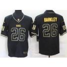 Men's New York Giants #26 Saquon Barkley Limited Black Gold Vapor Untouchable Jersey