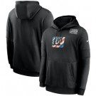 Men's New York Giants Black Crucial Catch Sideline Performance Pullover Hoodie