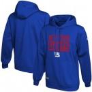 Men's New York Giants Blue School of Hard Knocks Pullover Hoodie