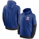 Men's New York Giants Blue Sideline Impact Lockup Performance Full Zip Pullover Hoodie
