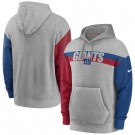 Men's New York Giants Gray Heathered Heritage Tri Blend Pullover Hoodie