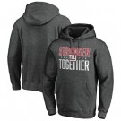 Men's New York Giants Heather Charcoal Stronger Together Printed Pullover Hoodie 0717