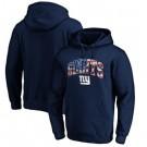 Men's New York Giants Navy Banner Wave Printed Pullover Hoodie 0757