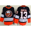Men's New York Islanders #13 Mathew Barzal Navy 2021 Reverse Retro Authentic Jersey
