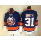 Men's New York Islanders #31 Billy Smith Blue Retro Jersey