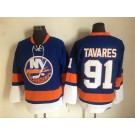 Men's New York Islanders #91 John Tavares Blue Retro Jersey