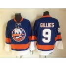Men's New York Islanders #9 Clark Gillies Blue Retro Jersey