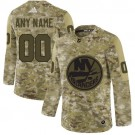Men's New York Islanders Customized Camo Authentic Jersey