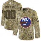 Men's New York Islanders Customized Camo Fashion Authentic Jersey
