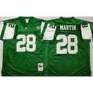Men's New York Jets #28 Curtis Martin Green Throwback Jersey
