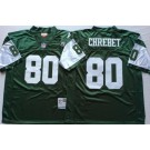 Men's New York Jets #80 Wayne Chrebet Green Throwback Jersey