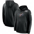 Men's New York Jets Black Crucial Catch Sideline Performance Pullover Hoodie