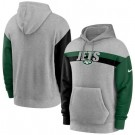 Men's New York Jets Gray Heathered Heritage Tri Blend Pullover Hoodie
