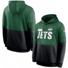 Men's New York Jets Green Black Sideline Impact Lockup Performance Pullover Hoodie
