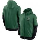 Men's New York Jets Green Sideline Impact Lockup Performance Full Zip Pullover Hoodie