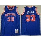 Men's New York Knicks #33 Patrick Ewing Blue 1991 Throwback Swingman Jersey