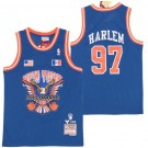 Men's New York Knicks #97 Harlem Diplomats Blue Remix Big Season X Hollywood Classic Swingman Jersey