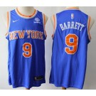 Men's New York Knicks #9 RJ Barrett Blue Icon Sponsor Swingman Jersey