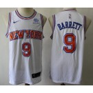 Men's New York Knicks #9 RJ Barrett White Icon Sponsor Jersey