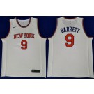 Men's New York Knicks #9 RJ Barrett White Icon Swingman Jersey
