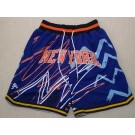 Men's New York Knicks Blue Throwback Just Don Shorts