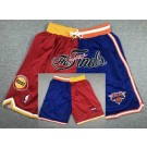 Men's New York Knicks Houston Rockets Blue Red 1994 Finals Just Don Shorts