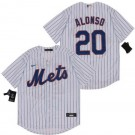 Men's New York Mets #20 Pete Alonso White 2020 Cool Base Jersey
