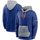 Men's New York Mets Blue Heritage Tri Blend Pullover Hoodie