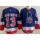 Men's New York Rangers #13 Alexis Lafreniere Blue 2021 Reverse Retro Authentic Jersey