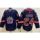 Men's New York Rangers #24 Kaapo Kakko Navy 2021 Reverse Retro Authentic Jersey