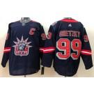 Men's New York Rangers #99 Wayne Gretzky Navy 2021 Reverse Retro Authentic Jersey